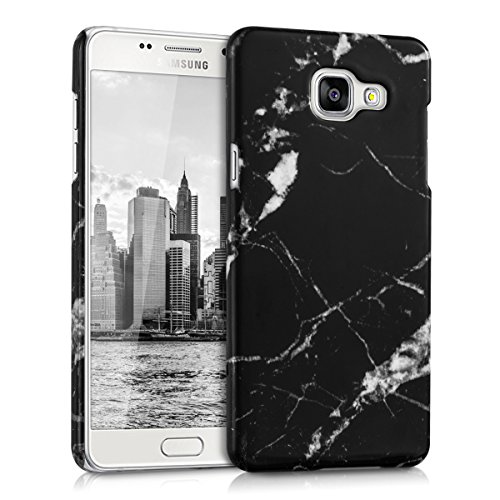 kwmobile Hardcase Hülle für Samsung Galaxy A5 (Version 2016) mit Marmor Design - Hartschale Backcover Case Schutzhülle Cover in Schwarz Weiß