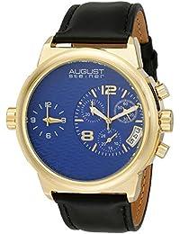 August Steiner pulsera de aleación de reloj de cuarzo suizo con pantalla Esfera Analógica Azul y Negro para hombre as8151ygbu
