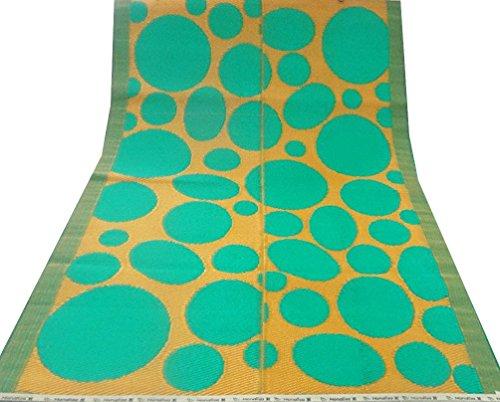 tappeto verde decorativo grande tappetino polipropilene materiale plastico polka dot