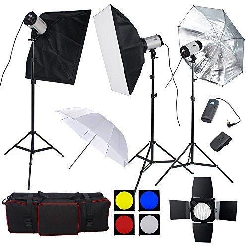 BPS - 900W Flash Estudio Fotografía Profesional Kit Completo para el Disparo de Retrato y...