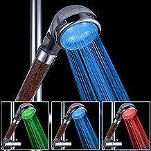 Filtro Soffione Doccia Led Filtrazione Tubo Flessibile ABS doccia a telefono con 3 diversi colori, sensore di temperatura