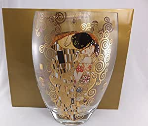 Amazon.de: Gustav Klimt - Glasvase - Der Kuss. Trapez