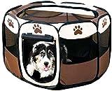 LFDHSF Carpa para Perros portátil Parque Infantil Kennel Mesh Shade Cover Interior al Aire Libre Tienda de campaña Cerca para Mascotas Perros Gatos