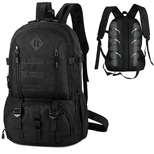 CoolLifes Military Tactical Rucksack Assault Pack Molle Rucksack Bug Out Bag 3Tag Rucksack Laptop Daypack groß Wasserdicht Abfalltonne für Outdoor Trekking Camping Jagd Wandern, Schwarz