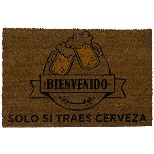 Felpudos Originales  con Diseño Traes Cerveza, PVC, Coco, 60 x 40 cm