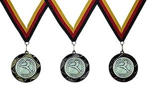 JoGo-Pok Medaille Rhönrad D=70mm in 3D, inkl. 22mm Band, 3er Serie