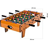 Maxstore Mini Tischfußball, Maße: 70x37x25 cm, 3 Dekorvarianten, Gewicht: 4 kg, 6 Spielstangen, inkl. 2 Bälle