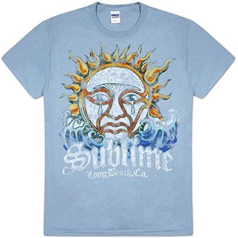 Old Glory - Sublime - para hombre azul diseño de sol T-de manga corta de mujer