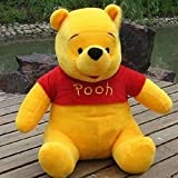 #9: Stuff Toys Soft Toys Toy Pooh Bear by #Alpha, Orange,Fiber Filling, 48cm, one Piece.