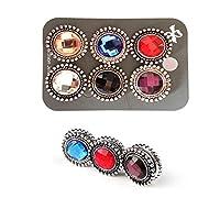 Fashion Tassel Gemstone Hijab Pins Button For Women Jewelry Gifts (Dark)
