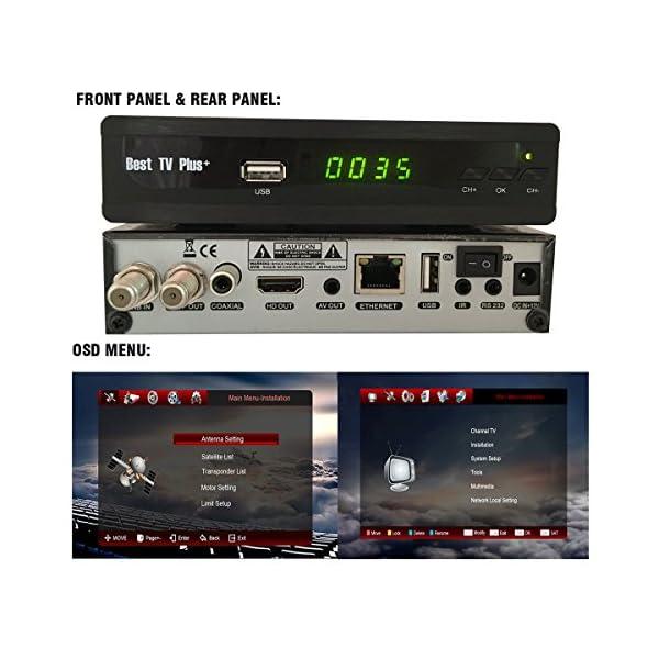 Best TV Plus+ IPS2 BestHD IKS M3U IPTV 1080p Ethernet port HD Digital HDMI  M3 DVB-S2 Satellite receiver skybox v8