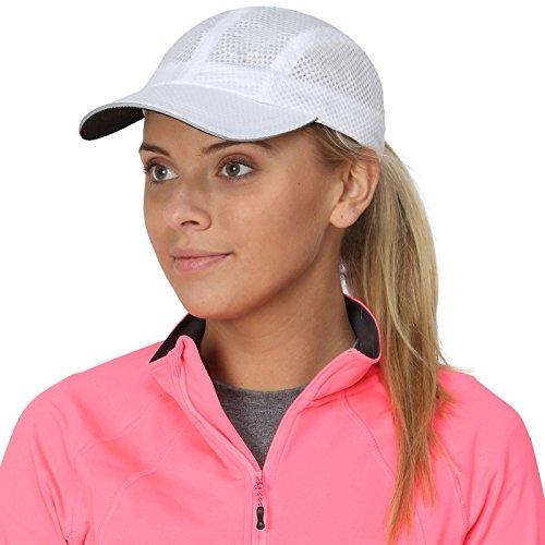 TrailHeads Damen Race Day Laufkappe - weiß Weiße Tennis Caps