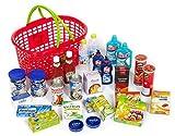 Polly Kaufmannsladen Zubehör Einkaufskorb gefüllt mit 27 Miniaturen für den Kaufladen .Diese Produkte Laufen Nicht auf der Kaufladen Kassen App.