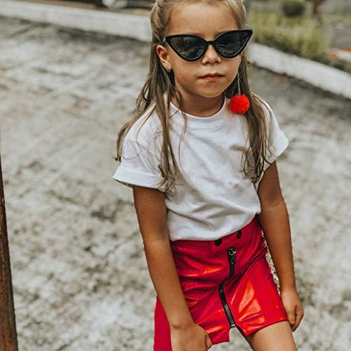 HEETEY Mädchen Outfits Infant Baby Mädchen Rock Prinzessin Pailletten Minirock Zipper Outfits Kleidung Heller Reißverschluss Minirock Rock