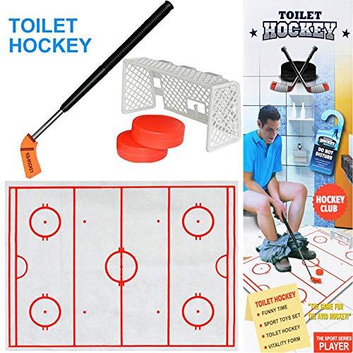 KOBWA Juego de Hockey para Inodoro, descompresión, Juguete Divertido para Hockey Sobre Hielo, Juguete Divertido para Hombre, Life Idea