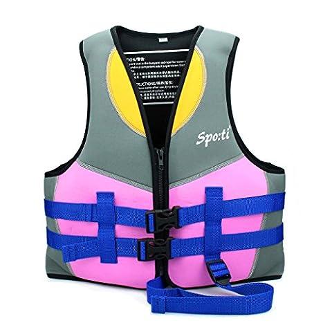 Genwiss Enfants Veste de bain / Gilet de natation 5 à 6 ans - Rose