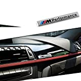 #6: M Performance Metal Badge for BMW Emblem Decal 3M Sticker Car Interior Styling Silver