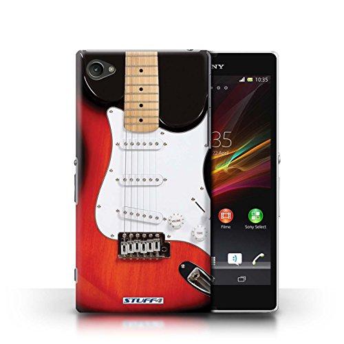 Kobalt® Imprimé Etui / Coque pour Sony Xperia Z1 Compact / Rouge Electrique conception / Série Guitare Rouge Electrique