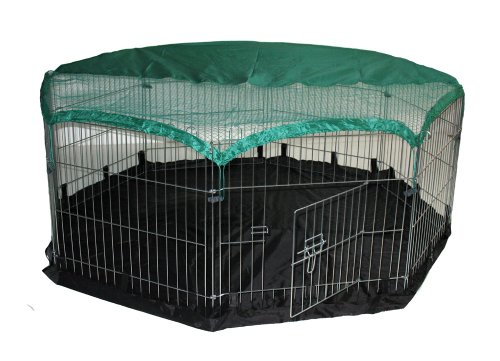 BUNNY-BUSINESS-6-Panel-Playpen-with-Free-Safety-Net-and-Nylon-Floor-48-x-48-inch-Large