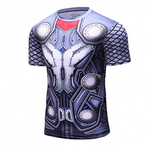 ZCYTIM Batman vs Superman T-Shirt 3D Gedruckt T-Shirts Männer Kurze Raglanärmel Fitness Cosplay Kostüm Slim Fit Compression Top Männlichen