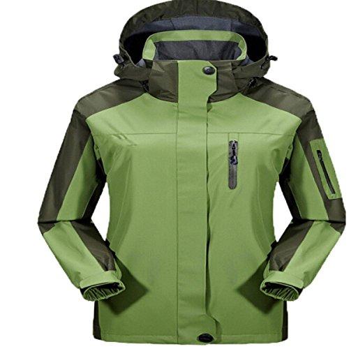 Vestes Outdoor Modèles Masculins Et Féminins Grandes Marées Manteau Verges Saisons Triple Vestes green