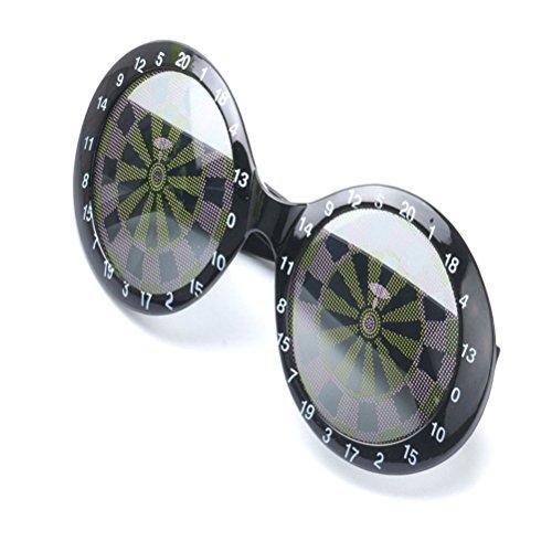 Good Night Neuheit Darts geformt Sonnenbrille Phantasie verkleidet Party Requisiten Zubehör (Dart Kostüme)