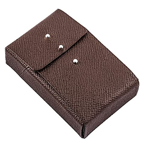 "Etui luxe porte paquets de cigarettes taille standard cuir marron ""Made in France"""