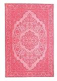 Morgenland Vintage Teppich MILANO 300 x 80 cm Läufer Rosa Einfarbig Designer Moderner Teppich Klassisch Jacquard Kurzflor Shabby Chic Used Look Medaillon Orient Teppich Handgearbeitet 100% Schurwolle Wohnzimmer Flur Küche Kinderteppich - In 7 versch. Farben, Viele Größen