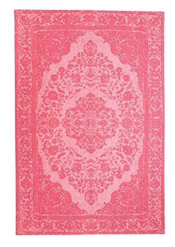 Morgenland Vintage Teppich MILANO 300 x 80 cm Läufer Rosa Einfarbig Designer Moderner Teppich...
