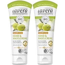 Lavera Hand & Nail Crema 2in1cura ∙ Bio Olio d' oliva & Bio Camomilla ∙ Crema Per Le Mani zieht veloce un ∙ Vegan Bio Natural & innovative Hand Care cosmetico naturale Confezione da (2X 75ml)