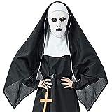 QWWR Disfraz de Halloween Horror Monasterio Fantasma Hermana Diablo Monja Ropa sexual Tocados...