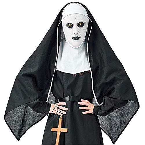 QWWR Halloween Kostüm Horror Kloster Geister Schwester Teufel Nonne Sex Anzug Männlich Maskiert Kopfschmuck XL (Männliche Teufel Kostüm)