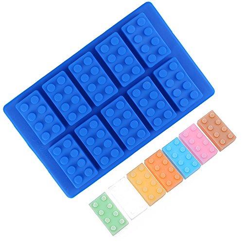 Ndier Ice Cube Jelly Chocolate Maker Mold Tray Eiswürfel Silikon Brick Mould Enash Blau Blau Tray