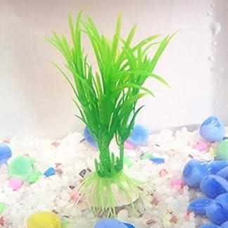 iodvfs Artificial gladiolo Agua Hierba Peces Tortuga Depósito decoración plástico Acuario Planta Decor