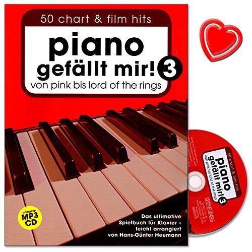 Piano gefällt mir - Band 3 - Das ultimative Spielbuch für Klavier arrangiert von Hans-Günter Heumann - mit CD und bunter herzförmiger Notenklammer - Teile Drei Tot
