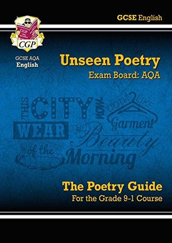 New Grade 9-1 GCSE English Literature AQA Unseen Poetry Guide - Book 1 (CGP GCSE English 9-1 Revision)
