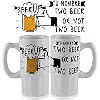 Jarra de cerveza de cerámica personalizada 500 ml regalo frases molonas despedida de solteros solteras cumpleaños regalos amigos fiesta cerveza