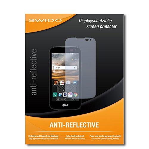 SWIDO Bildschirmschutz für LG K3 [4 Stück] Anti-Reflex MATT Entspiegelnd, Hoher Härtegrad, Schutz vor Kratzer/Glasfolie, Schutzfolie, Bildschirmschutzfolie, Panzerglas Folie