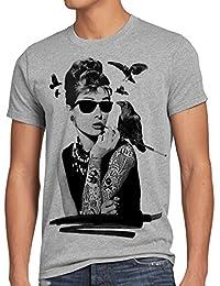 style3 Tattoo Audrey Hepburn T-Shirt Men hollywood movie hepburn star