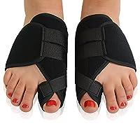 UEETEK 1 Pair Hallux Valgus Splints Corrector Toes Separators Protector Bunion Pads Black
