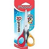 Maped - Ciseaux Sensoft 13 cm - Ciseaux Enfants avec Anneaux Souples et Ergonomie 3D - Ciseaux Scolaires dès 4 Ans - Pour Mat