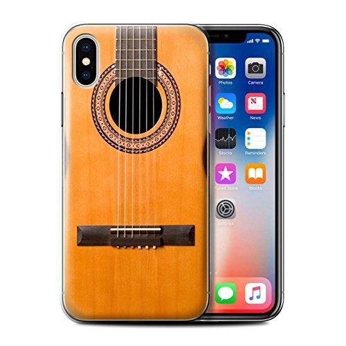 Coque de Stuff4 / Coque pour Apple iPhone 4/4S / Rouge Electrique Design / Guitare Collection Acoustique en Bois