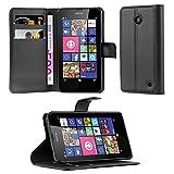 Cadorabo Coque pour Nokia Lumia 630/635 en Noir DE Jais - Housse Protection avec...