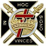 Patch Nation Pin de solapa con diseño de corona y cruz en Hoc Signo Vinces Knights Templar Crusader