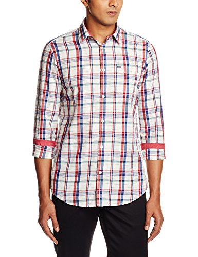 Arrow Sports Men's Casual Shirt (8907259813332_ASRS3117_40_Ecru)  available at amazon for Rs.719