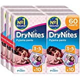 Drynites 2146081 -  Braguitas absorbentes, 3 Paquetes de 10 Unidades, talla 3 - 5 Niña