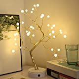 Luz de alambre de cobre ajustable en forma de árbol Bonsái, diseño de perla, luciérnaga. Luz de noche de 36 / 108 leds, perfe