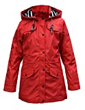 Batela Damen Regenmantel mit Innenfutter, Farbe:rot, Größe:36
