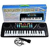 Piano Jouet, Finer Shop 37 Claviers Jouet Piano Musical Électronique pour Enfants - NOIR