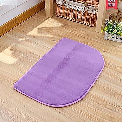 New day-Stuoia di bagno camera da letto Asciugapassi non - scivolare mat semi - lavare a mano lavabile macchina circolare , deep purple , 80*160
